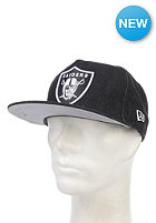 NEW ERA NFL Denim Oakland Raiders Snapback Cap black/white