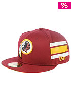 NFL Stripe Washington Redskins Team Fitted Cap team color