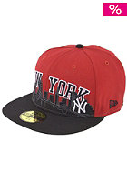 NEW ERA NY Yankees City Line Cap scarlet/black