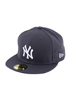 NEW ERA NY Yankees Logo Fitted Cap graphite/white