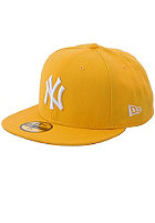 NEW ERA NY Yankees Logo Fitted Cap yellow/white