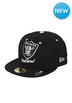 NEW ERA Oakland Raiders Retro Team Name Fitted Cap team