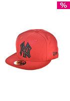 NEW ERA Plaid Fill NY Yankees Cap scarlet/black