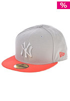 NEW ERA Pop Tonal 5950 New York Yankees Fitted Cap gray/hot red