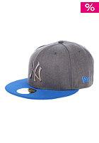 Pop Tonal 5950 New York Yankees Fitted Cap heather graphite/blue azur