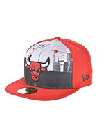 NEW ERA Round Dway Chicago Bulls Team Fitted Cap red