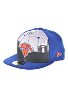NEW ERA Round Dway New York Knicks Team Fitted Cap blue