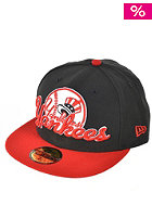 NEW ERA Script Down NY Yankees Cap black/scarlet