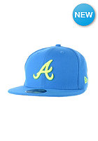 NEW ERA Seas Contrast Atlanta Braves Cap song bird blue/upright yellow