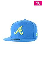 NEW ERA Seas Contrast Atlanta Braves Cap song bird blue/upright yellow