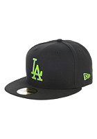 NEW ERA Seasonal Basic LA Dodgers Fitted Cap black/lime green