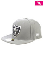 NEW ERA Team Basic Oakland Raiders Fitted Cap Grey