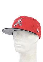 NEW ERA Tricolor Basic Atlanta Braves Fitted Cap scarlet black/sparkl. grape