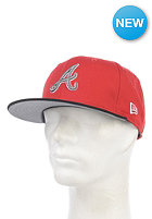 NEW ERA Tricolor Basic Atlanta Braves Fitted Cap scarlet black/sparkl. grape