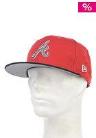 Tricolor Basic Atlanta Braves Fitted Cap scarlet black/sparkl. grape