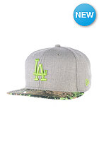 NEW ERA Visor Tropic Los Angeles Dodgers Fitted Cap heather grey/lime green