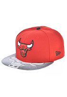 NEW ERA Vizasketch Chicago Bulls Team Fitted Cap red