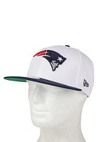 NEW ERA White Top New England Patriots Snapback Cap white/blue