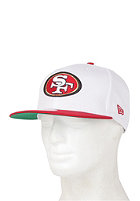 NEW ERA White Top San Francisco 49ers Snapback Cap white/red
