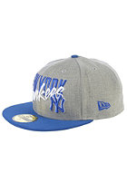 NEW ERA Wordfront New York Yankees Fitted Cap heather grey/blue royal