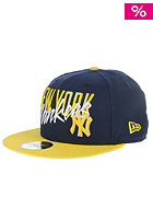 NEW ERA Wordfront New York Yankees Fitted Cap navy/yellow