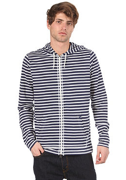 NIKE ACTIONSPORTS Jersey Stripe Hooded Zip Sweat midnight navy