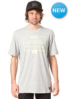 NIKE ACTIONSPORTS Lockup Dri-Fit S/S T-Shirt dk grey heather/electric yellow