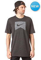 NIKE ACTIONSPORTS Ribbon Logo DFB Blank S/S T-Shirt black heather/white
