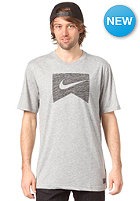 NIKE ACTIONSPORTS Ribbon Logo DFB Blank S/S T-Shirt dk grey heather/black