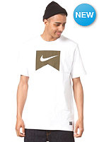 NIKE ACTIONSPORTS Ribbon S/S T-Shirt white/flat pewter