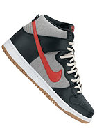 NIKE SB Dunk High Pro black/university red-mdm grey