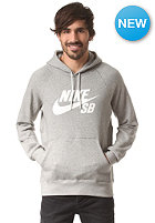 NIKE SB Icon Hooded Fleece Sweat dk grey heather/white