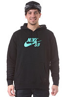 NIKE SB Icon Hooded Sweat black/anthracite/crystal mint