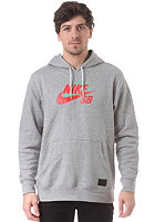 NIKE SB Icon Hooded Sweat dk grey heather/black/lt crimson