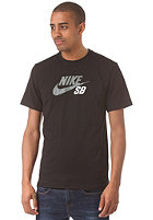 NIKE SB Icon Logo S/S T-Shirt black/black/bomber grey