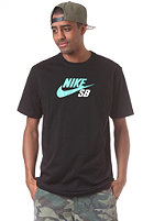 NIKE SB Icon Logo S/S T-Shirt black/university red