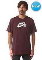 NIKE SB Icon Logo S/S T-Shirt deep burgundy/deep burgundy/white