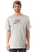 NIKE SB Icon Logo S/S T-Shirt dk grey heather/bomber grey