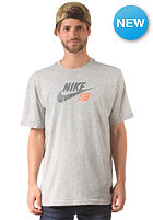 NIKE SB Icon Logo S/S T-Shirt dk grey heather/bomber grey