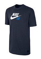 NIKE SB Icon Logo S/S T-Shirt obsidian/obsidian/white