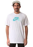 NIKE SB Icon Logo S/S T-Shirt white/white/dusty cactus