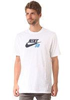 NIKE SB Icon Logo S/S T-Shirt white/white/obsidian
