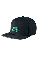 NIKE SB Icon Snapback Cap black/black/crystal mint/crystal mint