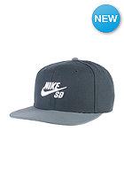 NIKE SB Icon Snapback Cap classic charcl/black/blue graphite/white