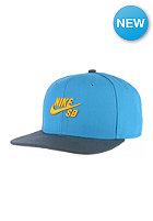 NIKE SB Icon Snapback Cap lt blue lacquer/black/university gold