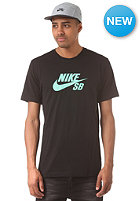 NIKE SB Icon Speckle S/S T-Shirt black/black/crystal mint