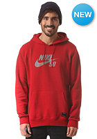 NIKE SB PO Reflective Icon Hooded Sweat gym red/reflect silver