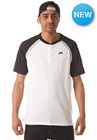 NIKE SB SB DFT Davis S/S Henley Shirt summit white/black/base grey/black