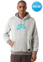 NIKE SB SB Icon Hooded Sweat base grey/med base grey/turbo green