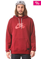 NIKE SB SB Icon Hooded Sweat team red/team red/laser crimson